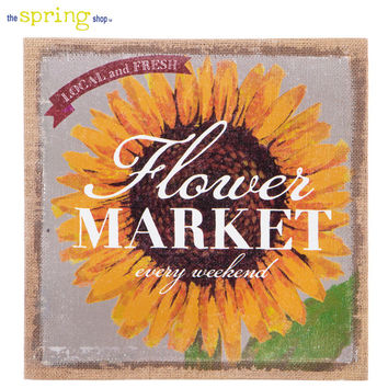 Flower Market Burlap Wall Decor | Hobby Lobby | 5836457