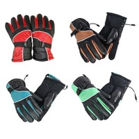 1Pair 12V Electric Gloves Charge Heated Gloves Sport Temperature Control Rechargeable For Motorcycle Hunting Winter Warmer