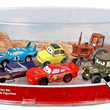 Disney Pixar Cars Figurine Set with Lightning McQueen