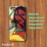 pocahontas - iPhone  4 case, iphone 5 Case,iPod  touch 4 case , iPod touch 5 case , Samsung Galaxy S3 , S2 , Note 2 case