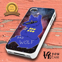 Tardis Doctor Who Bad Wolf in galaxy nebula for iphone, ipod, samsung galaxy, HTC and Nexus Case