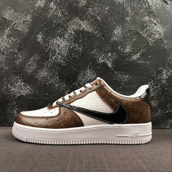 Nike Air Force 1 07 LV8 White Brown Black - Best Deal Online