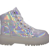 YRU Slayer Sneaker Silver Hologram