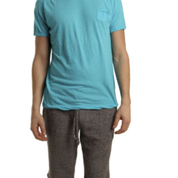 V::ROOM Classic Pocket Tee in Cyan