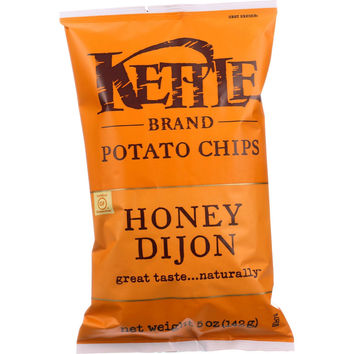 Kettle Brand Potato Chips - Honey Dijon - 5 oz - case of 15