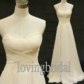 Custom Sweetheart Neckline Wedding Dress/Bridesmaids Dress/Prom Dress