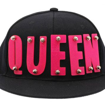 Black Queen Snapback Hat And Cap