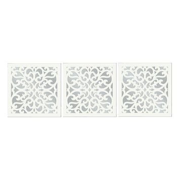 3-piece Vine Wall Mirror Set (White)