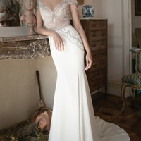 Alon Livné White Michele Beaded Cap Sleeve Mermaid Gown (In Selected Stores Only) | Nordstrom