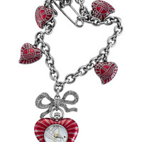 Vivienne Westwood Women's Women's Red Heart Charm Watch - Red