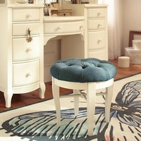 The Emily + Meritt Denim Glam Vanity Stool