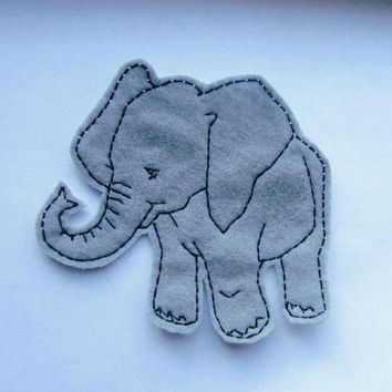Bailey the Baby Elephant Applique Iron on Version