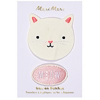 Iron On Cat Patches - Kitty and Meow Pack of 2