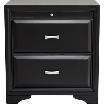Belcourt Black Nightstand - Dressers Colors