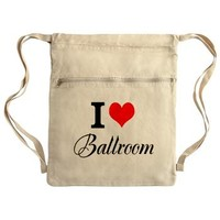 I Heart Ballroom Cinch Sack