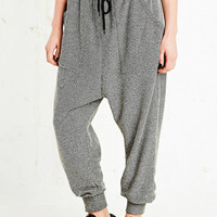 Sparkle & Fade Drop Crotch Nepped Sweat Pants in Black - Urban Outfitters