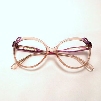 Vintage 90s Lanvin Frames. Translucent Purple Ribbon Detail.