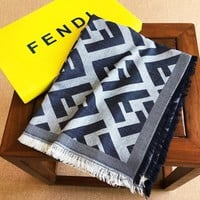 FENDI fashion F leisure lovers in jacquard fringed edge mink wool scarf
