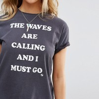 Billabong Waves Are Calling Beach T-Shirt at asos.com