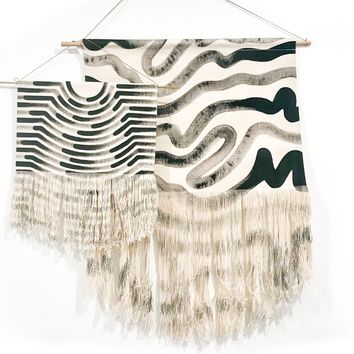 Wavy Painted Stripe Medium Wall Hanging