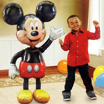 112cm Giant Minnie Mickey Mouse foil Balloon Cartoon birthday party decorations kids adult Wedding Baby shower baloon Toy globos