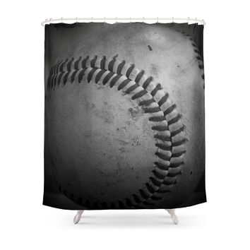 Society6 Baseball Shower Curtains