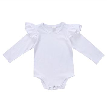 New Spring Ruffles baby clothes romper 2017 Newborn Infant Kids Baby Girl Cotton Romper Jumpsuit Clothes Outfits