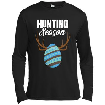 Hunting Season Cute Bunny Funny Easter T-Shirt Boys Girls Long Sleeve Moisture Absorbing Shirt