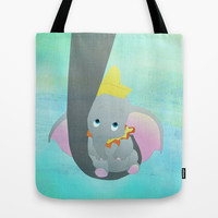 dumbo and his mom Tote Bag by Studiomarshallarts