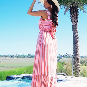 Restock: Sweetest Soul Maxi: Coral/White