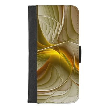 Colors of Precious Metals, Abstract Fractal Art iPhone 8/7 Plus Wallet Case