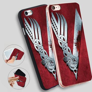 Minason Vikings Serie Cases For iPhone 8 7 7Plus 5 5S SE Cases Silicone Soft Case For iPhone 6 s 6s 7 8 Plus X Cover