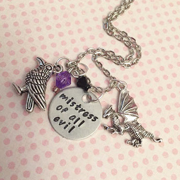 Mistress Of All Evil Necklace - Fairytale Jewelry - Once Upon A Time Jewelry - Villian Jewelry - Sleeping Beauty Inspired Jewelry