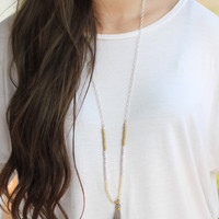 Show Me the Way Tassel Necklace