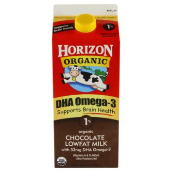 Horizon Organic Low Fat Chocolate Milk with added DHA Omega-3, 64 oz
