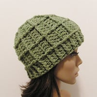 Epic Ribbed Squared Beanie - Lettuce - Made to order - Mens and womens hat
