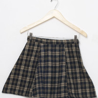 Motel Vintage Katy Check Circle Skirt 0016