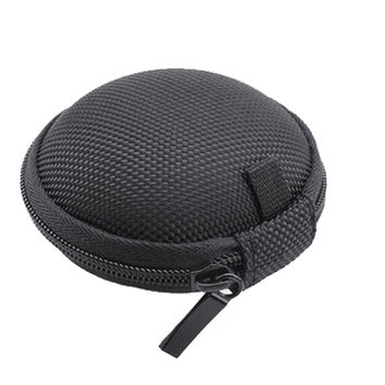 New Bluetooth Headset Case Soft Small Round Black Earphone Earbud Earpods Carry Case Box Portable PU Shockproof Accessories