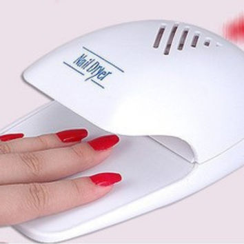 Mini Nail dryer Finger Toe  Polish Paints Dryer Blower Nail Art Tools AY248-SZ+