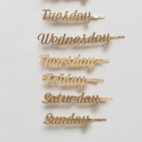 Orelia Days Of The Week Hair Slides at asos.com