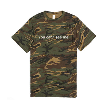 Camo, You can't see me Tee