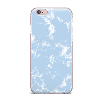 "Vasare Nar ""Marble Clouds"" White Blue iPhone Case"