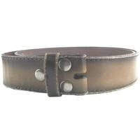 Hot Buckles Vintage Look Distressed Brown Leather Strap Belt Snap On for Buckles