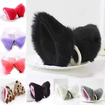 Sexy Cosplay Party Cat Fox Long Fur Ears Neko Costume Hair Clip Halloween Orecchiette Macchar Cosplay Catalogue