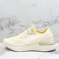 Nike Epic React Flyknit Beige Running Shoes - Best Deal Online