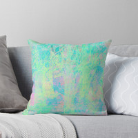'pastel forest' Throw Pillow by Marianna Tankelevich