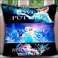 Disney Cartoon Frozen Disney Princess Elsa and Princess Anna - Pillow Cover Pillow Case and Decorated Pillow.