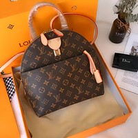 LV vintage classic presbyopia men and women backpack bag
