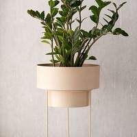 "Noa 12"" Metal Planter + Stand 
