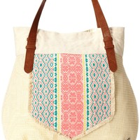 Roxy Buckle Up Tote,Stone,One Size
